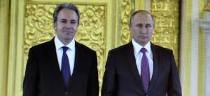 Андреас Фриганас и Владимир Путин