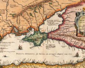 карта Понта Эвксинского (Abraham Ortelius, XVII век)