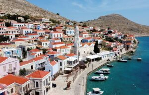 FILE PHOTO: Halki, a remote Greek island, coronavirus-free, waits for tourists